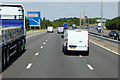 SO8750 : Northbound M5 towards Junction 7 by David Dixon