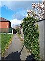 SE2435 : Footpath alongside Manor Park surgery by Stephen Craven