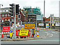 NY4055 : Road closed signs, Victoria Viaduct, May 2018 by Rose and Trev Clough