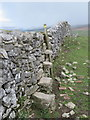 SD8067 : Stone stile on the Dales High Way by John S Turner