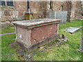 SP2490 : Listed chest tomb north of St Cuthbert's church by Richard Law