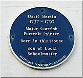 NO5603 : Blue plaque commemorating David Martin by Richard Sutcliffe
