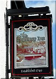 NO4102 : Sign for the Railway Inn by Richard Sutcliffe