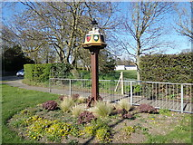 TM5294 : Oulton Village sign by Adrian Cable