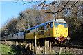 NZ0636 : Bright Yellow Diesel Engine on the Weardale Railway by Chris Heaton