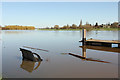 SK7958 : River Trent in flood by Richard Croft
