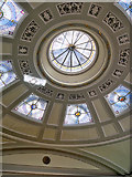 SJ8498 : Portico Library, Domed Ceiling by David Dixon