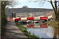 ST2997 : Coffer dam & bridge, Sebastopol by M J Roscoe