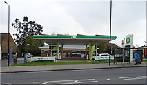 TQ1385 : Service station on Pett's Hill (A312), Northolt by JThomas
