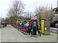 TQ3681 : Limehouse Salmon Lane cycle station by Robin Webster