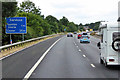 ST2120 : Southbound M5 towards Taunton Deane Services by David Dixon