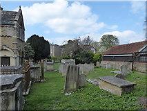 TQ1068 : St Mary, Sunbury-on-Thames: churchyard (e) by Basher Eyre