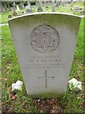 TQ1667 : St Nicholas, Thames Ditton: CWGC grave (iii) by Basher Eyre