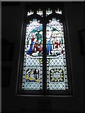 TQ1667 : St Nicholas, Thames Ditton: stained glass window (i) by Basher Eyre