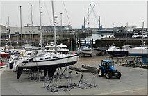 TR3140 : Dover Marina boatyard by John Baker