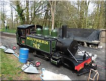 SS6846 : 'Lyn' on shed at Woody Bay by Roger Cornfoot