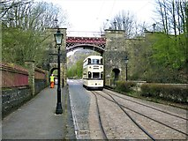 SK3455 : Bowes-Lyon Bridge, Crich Tramway Village by G Laird