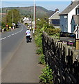 SO1422 : Small roadside mirror, Bwlch, Powys by Jaggery