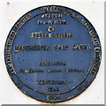 SJ8197 : Commemorative Plaque on Gateway to Manchester Docks by David Dixon