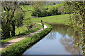 SO3004 : Cyclists on NCR 49, Mon & Brec Canal by M J Roscoe