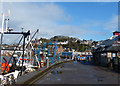 NM8529 : The quayside at Oban by Robin Drayton