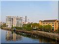 SJ8196 : Pomona Island, Manchester Ship Canal by David Dixon