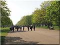 TQ2580 : Kensington Gardens Broad Walk with strolling visitors by David Hawgood