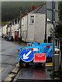 SO1305 : Ffordd droed ar gau/Footpath closed, Charles Street, Abertysswg  by Jaggery