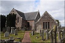 NO8685 : Dunnottar parish kirk and the Marischal aisle by Bill Harrison