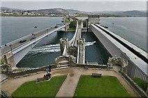 SH7877 : Conwy Castle: The three bridges 1 by Michael Garlick