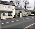 SN9926 : Houses adjoining Tai'r Bull, Libanus, Powys by Jaggery
