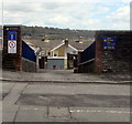 ST1499 : Entrance to Park Primary School, Bargoed by Jaggery