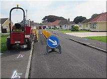 ST3049 : Thwaites dumper, Westfield Drive, Burnham-on-Sea by Jaggery