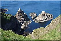 NJ8665 : Sea Stacks by Anne Burgess