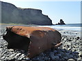 NG3130 : Wreckage on the beach at Talisker Bay by Rod Allday