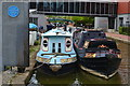 SP4540 : Moored narrowboats at Tooley's boatyard, Banbury by David Martin