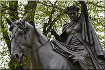 SP4540 : A fine lady upon a white horse by David Martin