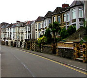 ST1599 : Cardiff Road houses, Bargoed by Jaggery