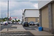 NT4935 : Gala Water Retail Park, Galashiels by Jim Barton