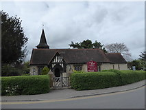 TQ1863 : St Mary, Chessington at springtime by Basher Eyre