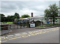 SO3204 : Main entrance to Goytre Fawr Primary School, Penperlleni by Jaggery
