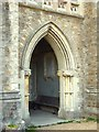 TQ7213 : Methodist Church Doorway at Catsfield by John P Reeves