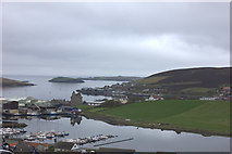 HU4039 : View of Scalloway from A970 by Robert Eva