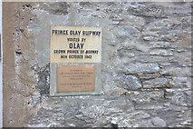 HU4039 : Prince Olav slipway sign, Scalloway by Robert Eva