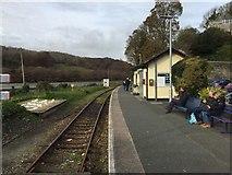 SX2553 : Looe railway station by Andrew Abbott