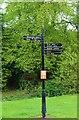 NO3801 : Signpost in Letham Glen by Bill Kasman