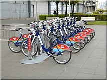 NT2677 : Docking station, Edinburgh cycle hire scheme by Oliver Dixon