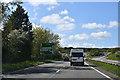 SJ3363 : A55 approaching Junction 36 by John Firth