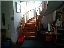 SJ3464 : Staircase inside of church by Garry Lavender-Rimmer