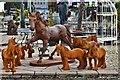 SJ3327 : British Ironwork Centre: Iron horses by Michael Garlick